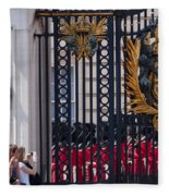 Tourists At Changing Of The Guards Fleece Blanket