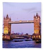 Tower Bridge In London At Dusk Fleece Blanket