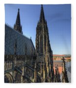 Towers Of The Cathedral Fleece Blanket