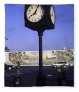 Town Clock Fleece Blanket