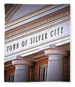 Town Of Silver City New Mexico Fleece Blanket