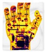 Toy Robotic Hand X-ray Fleece Blanket