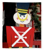 Toy Soldier Christmas In Virginia City Fleece Blanket