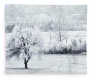 Tracks In The Frost Fleece Blanket