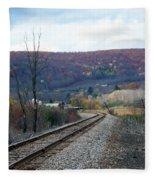 Tracks In The Valley Fleece Blanket