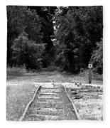 Abandoned Rails Fleece Blanket