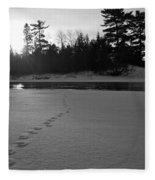 Tracks To The Water Fleece Blanket