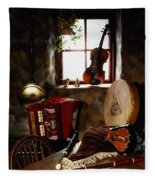 Traditional Musical Instruments, In Old Fleece Blanket