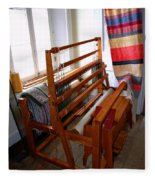 Traditional Weavers Loom Fleece Blanket