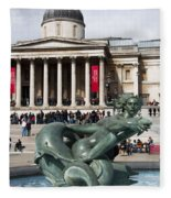 Trafalgar Square With Fountain Fleece Blanket