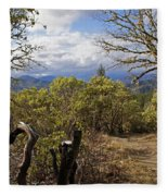 Trail At Cathedral Hills Fleece Blanket