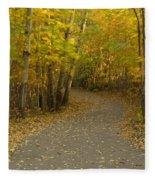 Trail Scene Autumn Abstract 3 Fleece Blanket
