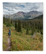 Trail Through Bear Country Fleece Blanket