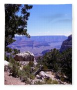 Trail To The Canyon Fleece Blanket