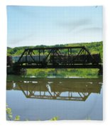 Train And Trestle Fleece Blanket