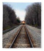 Train Head On Fleece Blanket