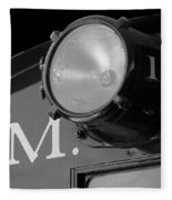 Train Headlight Fleece Blanket