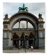 Train Station At Lucerne Fleece Blanket