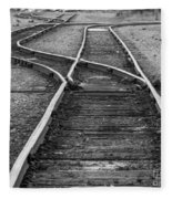 Train Tracks Switch Fleece Blanket