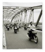 Trang Tien Bridge Fleece Blanket