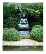Tranquil Buddha Fleece Blanket