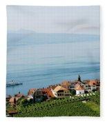 Tranquil Lake Geneva Fleece Blanket