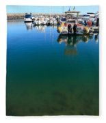 Tranquility At The Marina Fleece Blanket