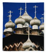 Transfiguration Cathedral On Kizhi Fleece Blanket