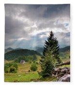 Transylvania Landscape - Romania Fleece Blanket