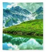Travelers Rest Swiss Alps Fleece Blanket