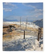 Travertine Limestone Terraces Fleece Blanket