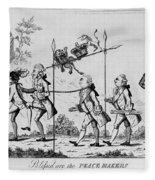 Treaty Of Paris, 1783 Fleece Blanket