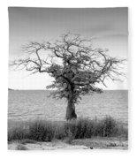 Tree And Water Fleece Blanket