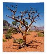 Tree At Cedar Ridge Fleece Blanket