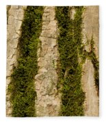 Tree Bark Mossy 4 C Fleece Blanket