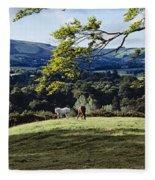 Tree In A Field, Great Sugar Loaf Fleece Blanket