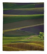 Tree In The Palouse Fleece Blanket