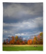 Tree Line On Sunset Hill In New Hampshire Fleece Blanket