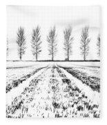 Tree Lines Fleece Blanket