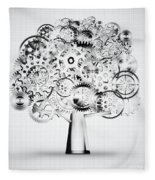 Tree Of Industrial Fleece Blanket