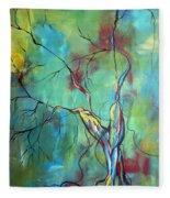 Tree Of Winding Color Fleece Blanket