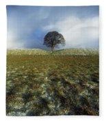 Tree On A Landscape, Giants Ring Fleece Blanket