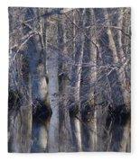 Tree Reflection Abstract Fleece Blanket