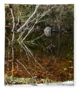 Tree Reflections Stoney Creek Fleece Blanket