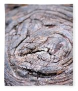 Tree Rings Fleece Blanket