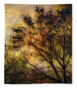 Tree Stamp Fleece Blanket