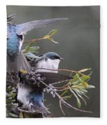 Tree Swallow - Standing Guard Fleece Blanket