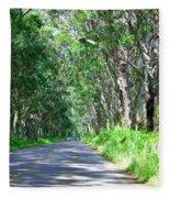 Tree Tunnel Fleece Blanket