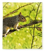 Tree Visitor Fleece Blanket