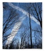 Trees And Trails Fleece Blanket
